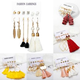 Chinese  Hot Women Fashion Bohemian Vintage Long Tassel Fringe Dangle Earrings Jewelry manufacturers