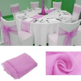 Table Runners Crystals Australia - 1pcs 30 X 275cm Multi-color Organza Table Runner Bow Swag Wedding Decoration Crystal TulleParty Banquet Decoration