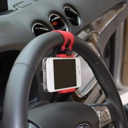steering wheel cell phone holder 2019 - New Car Steering wheel Universal Mount Holder Stand for Cell Phone iphone GPS Accesorios autom vil #P10 discount steerin