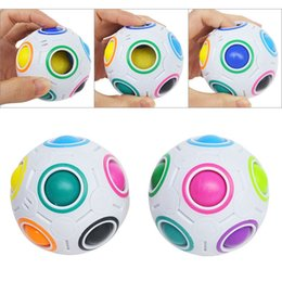 $enCountryForm.capitalKeyWord Australia - Creative Rainbow Ball Magic Cube Speed Football Spherical Puzzles Kids Educational Learning Toys Games For Children Gifts DHL Free