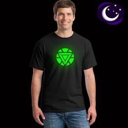 $enCountryForm.capitalKeyWord NZ - Men's luminous T-shirt cartoon hero logo luminous T-shirt black cross border
