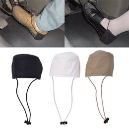 driving shoes NZ - Driving wear shoe cover Heel cover Unisex driving care heel Wear-resistant cloth Auto Accessories