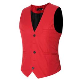 $enCountryForm.capitalKeyWord UK - Autumn and winter new men's dress vest Slim single-breasted solid color large size vest wedding vest men's