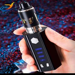 Vaporizer electronic digital online shopping - 100W box mod Electronic Cigarette Digital screen mah ml Atomizer Vaporizer vaper pen e cigarettes vape kit