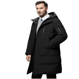 yellow duck clothes 2019 - Waterproof thick winter men down jacket brand-clothing hooded warm duck down coat male puffer jacket Male Windproof Park