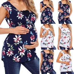 $enCountryForm.capitalKeyWord Australia - Maternity Floral Printed Vest Pregnant Women Nursing Baby T-shirt Sleeveless Tops Feeding Vest Loose Breastfeeding Tanks clothes plus size