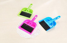smaller keyboard Australia - 2019 Mini colorful Desktop Cleaning Brush Computer and Keyboard Brush Small Broom Dustpan Set Brush Skimmer combo set Free shipping