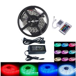 Ip power supply online shopping - OMTO Flexible V Light LED Strip IP Ul Listed Power Supply SMD RGB with Key IR Controller Bedroom Sitting Room M
