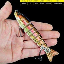 "$enCountryForm.capitalKeyWord NZ - Lures 1pc 8 Sections Lure 12.5cm-5\"" 0.661oz-18.74g Swimbait Fishing bait 6# Black Hook Fishing Tackle"