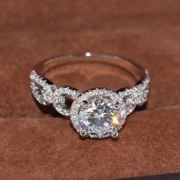 Gemstone Ring Size Gold Australia - Size 5-10 Victoria Wieck Fashion Jewelry 10KT White Gold Filled Round Cut Topaz CZ Diamond Gemstones Women Wedding clavicle Band Ring Gift