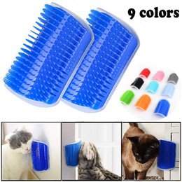 wholesale hair removal products Australia - Pet Cat Self Groomer For Cat Grooming Tool Hair Removal Comb Dogs Cat Brush Hair Shedding Trimming Massage Device With Catnip