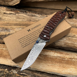 Handmade tactical knives online shopping - Hot Handmade VG10 Damascus Pocket Knife Ball Bearing system Multifuntion Tools Hunting Folding Knife Damascus Collection Knives