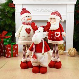 Santa Claus Christmas Ornament Australia - Big Size Christmas Dolls Retractable Santa Claus Snowman Elk Toys Xmas Figurines Christmas Gift for Kid Red Xmas Tree Ornament
