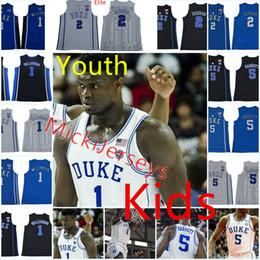8575004be Jóvenes NCAA Duke Blue Devils R. J. Barrett Baloncesto Jersey Niños   5 RJ.  Barrett