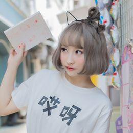 $enCountryForm.capitalKeyWord Australia - Wig Woman Short Hair Atmosphere Fringe Pear Blossom Ball Head Lolita