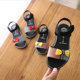 $enCountryForm.capitalKeyWord NZ - Girls sandals 2019 new summer little girl bow princess shoes children's fashion flat casual shoes wild