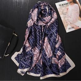 Quality Beach Wraps Australia - women scarf fashion quality soft silk scarves female shawls Foulard Beach cover-ups wraps silk bandana