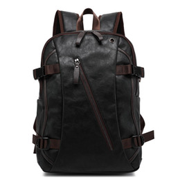Discount western style backpacks - SIXRAYS Men Oil Wax Leather Backpack Men's Casual Backpack & Travel Bags Western College Style Man Backpacks Zip Me