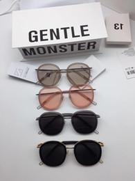 b882a4cfbd40 2018 New Korean Top Fashion V brand GM OLLIE MONSTER Sunglasses Luxury  Women s Men sunglasses Ocean Lens With Black Case