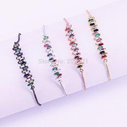 $enCountryForm.capitalKeyWord Australia - 10pcs New Simple Micro Pave Cz Crystal Connector Charm Adjustable Chain Macrame Women's Bracelet For Gifts Y19051002