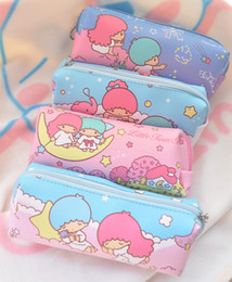 Twin Pens Australia - Random Shipment! Kawaii Little Twin Stars Portable Pencil Pen Case Cosmetic Makeup Zipper Bag Luggage Organizer Set Storage Bag #123606