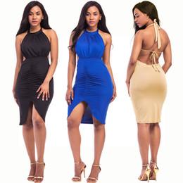 $enCountryForm.capitalKeyWord Australia - Sexy Women's Backless Sleeveless Tie Dress Nightclub Bar Cutout Dress