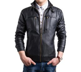 $enCountryForm.capitalKeyWord NZ - mens leather jacket slim motorcycle leather coat men jackets clothes personalized Long sleeve stage street fashion spring autumn 475