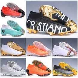Football Kids Superfly Australia - Kids High Ankle Football Boots LVL UP Superfly 6 Elite FG Soccer Shoes Youth CR7 Mercurial Superfly VI 360 Mens Womens Soccer Cleats