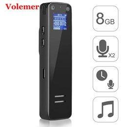 $enCountryForm.capitalKeyWord Australia - Volemer Hot V16 Digital Audio Voice Recorder 8G Professional Dictaphone Mini Mp3 Player Agc Noise Reduction Clip Belts Recorder