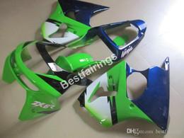$enCountryForm.capitalKeyWord Australia - Moto parts customize fairing kit for Kawasaki Ninja ZX6R 1998 1999 green blue fairings set ZX6R 98 99 CF19