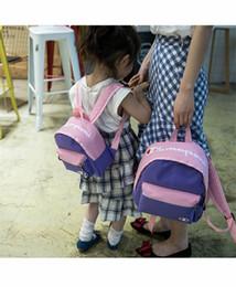 $enCountryForm.capitalKeyWord Australia - Designer Backpacks Champion Brand Kids Schoolbag Parent-child Shoulder Bags boys girls students bags Rucksack Canvas bookbags C72507