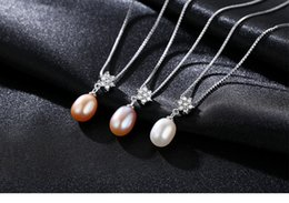 necklaces pendants Australia - hot S925 sterling silver pendant necklace with zircon flower natural freshwater pearl pendant LBM12