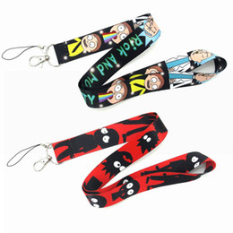Id badge clasp online shopping - Rick and Morty Cartoon Neck Lanyard Necklace Phone Straps Key Chain Neck Lanyard for ID Badge Holder Accessories with Lobster Clasps M025F