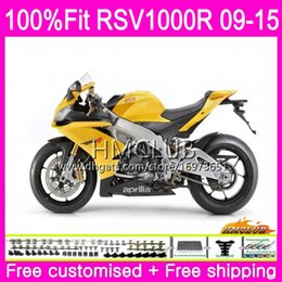 fairing rsv Canada - Injection For Aprilia RSV4 RSV1000RR Mille RSV1000 10 11 12 13 14 15 Gloss yellow 39HM.14 RSV 1000 RSV1000R 2010 2011 2012 2013 2015 Fairing