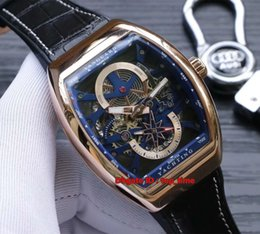 Water Resistant Gps Australia - 7 style Vanguard Yachting Anchor Skeleton Automatic Mens Watch V45 S6 YACHT Rpse Gp;d Case Skeleton Dial Leather&Rubber Strap Gents Watches