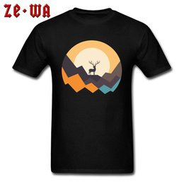 mountain tees Canada - T Shirt 2019 Newest Men's T-shirts Deer Mountain Top Graphic Tees Vault Boy Tshirt Casual England Style Clothes Cotton Fabric
