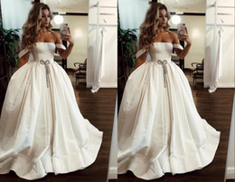 $enCountryForm.capitalKeyWord Australia - 2019 Simple Cheap Satin Wedding Dresses Off shoulders Designer With Short Sleeves Ruched Backless Cheap Wedding Reception Dress Bridal Gowns