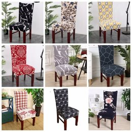 $enCountryForm.capitalKeyWord Australia - Chair Covers Spandex Kitchen Slipcover Removable Dining Seat Covers Elastic Seat Case Office Banquet Wedding Decor 39 Designs LYW2792