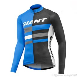 Clothes Worn Mountains Australia - GIANT team Cycling long Sleeves jersey Spring Autumn bicycle Clothing Mountain Bike Wear Outdoor Sportswear F60412