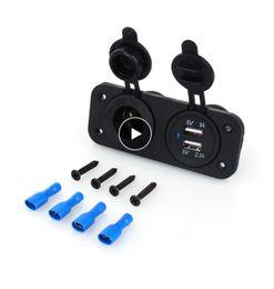 $enCountryForm.capitalKeyWord Australia - 12V Dual USB Car Cigarette Lighter Socket Splitter 12V Charger Power Adapter Outlet Accessories New Arrive