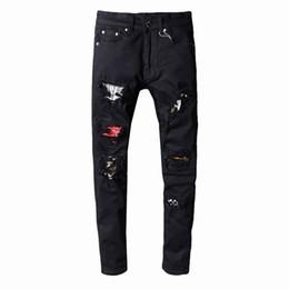 $enCountryForm.capitalKeyWord Australia - SS19 New model AI5222 Arrive Skinny Water wash Motorcycle Jeans Desinger single cow thickened Slim paris quality plugs Men jeans