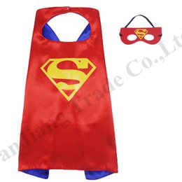 $enCountryForm.capitalKeyWord NZ - 70*70cm Double Side Superhero Capes and Masks for Kids Cosplay Party Halloween Costumes 2 Layers Cartoon Cloak Cape Set 97 Designs DHLC71602