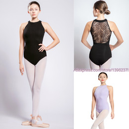 Women ballet costume online shopping - Gymnastics Leotard Women New Arrival High Necked Lace Dance Costume Black Ballet Dancing Wear Gymnastics Leotard
