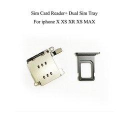 dual sim adapters NZ - 2 in 1 For iPhone XR Dual SIM Card Reader with flex cable +SIM Card tray Holder Slot Adapter Replacement