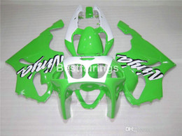 $enCountryForm.capitalKeyWord Australia - ABS plastic fairing kit for Kawasaki Ninja ZX7R 96 97 98 99 00-03 green white fairings kits ZX7R 1996-2003 TY18