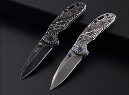 $enCountryForm.capitalKeyWord Australia - New hot sale outdoor folding knife gift pocket knife Black dragon collection 440C blade EDC tools free shipping wholesale price camping tool