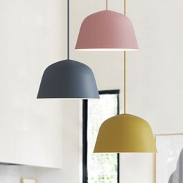 kitchens shops NZ - 2020 NEW Simple Macaron color Pendant Lamp Lights Kitchen Island Dining Living Room Shop Decoration Pendant Lights Kitchen Light