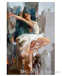 gallery canvas prints Australia - A. High Quality Handpainted & HD Print Impressionist Art Oil Painting Gallery Ballerina by Mahnoor Mano Shah On Canvas Home Office Deco p72