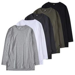 2641f92f1f2 mens long bottom t shirt 2019 - Summer casual loose men t shirt bottoms top  tee