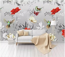 Paper House Small Australia - 3D wallpaper custom photo silk mural wall paper Nordic small fresh 3D flower and bird garden background wall paper mural
